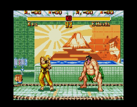 Ken vs. E. Honda in 'Super Street Fighter II'